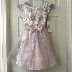 Pink with silver party dress